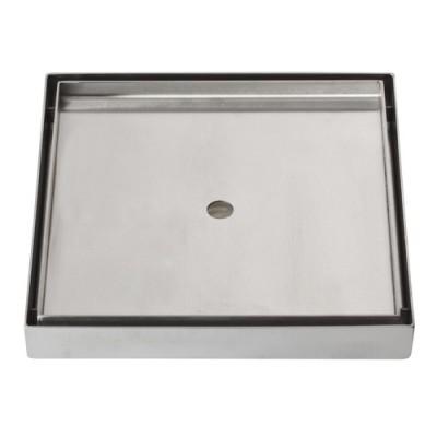 שוני- תעלת ניקוז נסתר מרובע למקלחת שוני מידות 15-30 ס''מ למילוי בריצוף