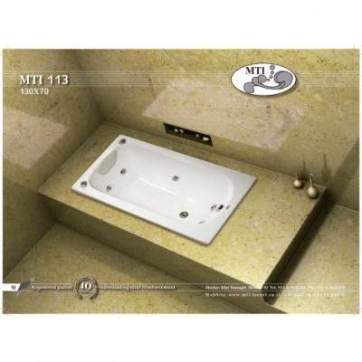 אמבטיה מלבנית דגם 130X70 MTI-113