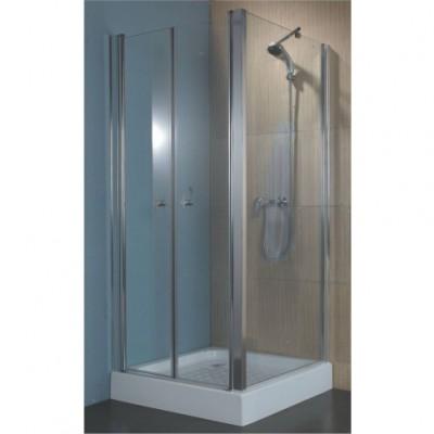 מקלחון פינתי דופן קבועה + דופן 2 דלתות נפתחות דגם לורה 89185