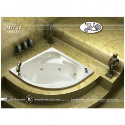 אמבטיה פינתית דגם 120X120 MTI-32