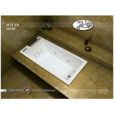 אמבטיה מלבנית דגם 160X80 MTI-68