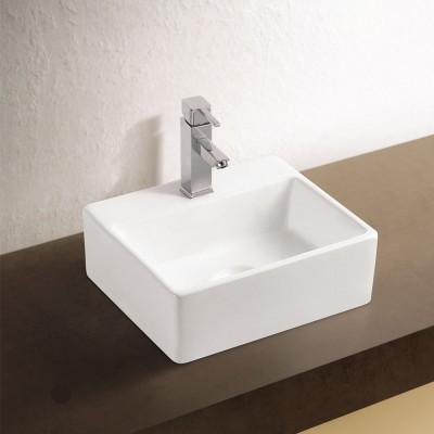 Sebach כיור לאמבטיה חרס מונח רינת - רוחב 33 ס''מ | עומק 29 ס''מ