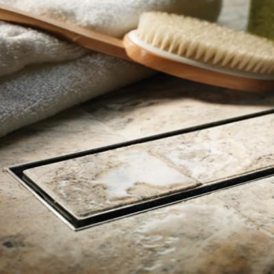 שוני- תעלת ניקוז נסתר מלבני למקלחת שוני במידות 30-120 ס''מ למילוי בריצוף