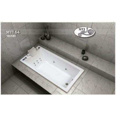 אמבטיה מלבנית דגם 180X80 MTI-64