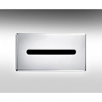 "HAMAT- מתקן לממחטות נייר קבוע בקיר 300x152x62 מ""מ גימור כרום 801669"