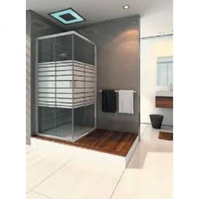 אל גל- מקלחון פינתי מרובע הזזה דגם פיקאסו