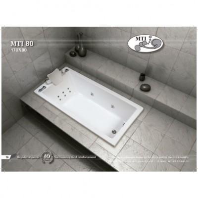 אמבטיה מלבנית דגם 170X80 MTI-80