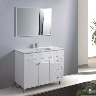 """ארון אמבטיה עומד כולל כיור צבע אפוקסי בתנור דגם אלבה 100 ס""""מ"""