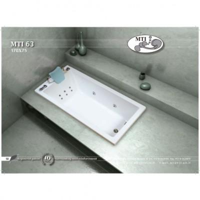 אמבטיה מלבנית דגם 170X75 MTI-63