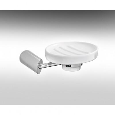 HAMAT- מתקן תלוי סבוניית חרס לבן 801773 גימור כרום