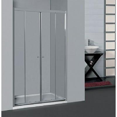 SELAQUA- מקלחון חזית הזזה 2 דפנות קבועות ו-2 דלתות הזזה