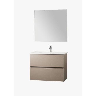 ארון אמבטיה תלוי מגירות כולל כיור משטח כולל מראה דגם ענבר