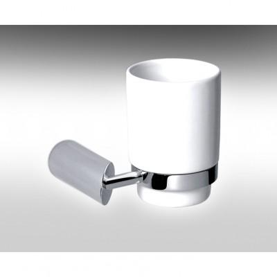 HAMAT- מתקן תלוי כוס חרס לבן למברשת שיניים 801775