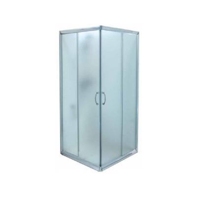 מקלחון הזזה מרובע פינתי דגם 907 פרופילים ניקל מטאלי