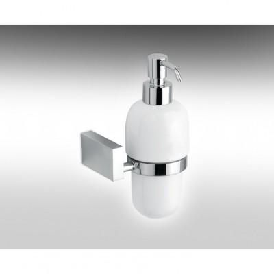 HAMAT- מתקן תלוי לשמפו/סבון נוזלי, בקבוק חרס לבן 801882