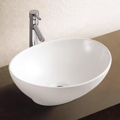 כיור לאמבטיה חרס מונח 2166 לבן מבריק - רוחב 41 ס''מ | עומק 33 ס''מ