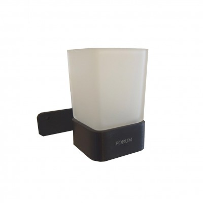 כוס תלוי למברשות שיינים Forum שחור מט