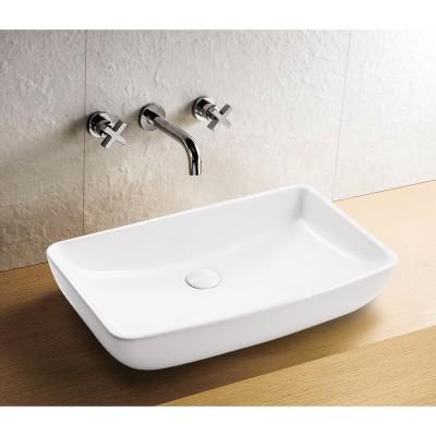 כיור לאמבטיה חרס מונח מעיין לבן - רוחב 60 ס''מ | עומק 38 ס''מ