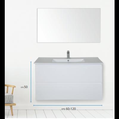 """ארון אמבטיה תלוי אפוקסי מראנו 60 ס""""מ"""