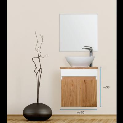 """ארון אמבטיה תלוי אפוקסי טורה 50 ס""""מ"""