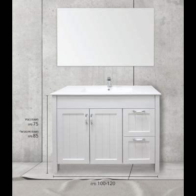 """ארון אמבטיה עומד אפוקסי רוודי 80 ס""""מ"""
