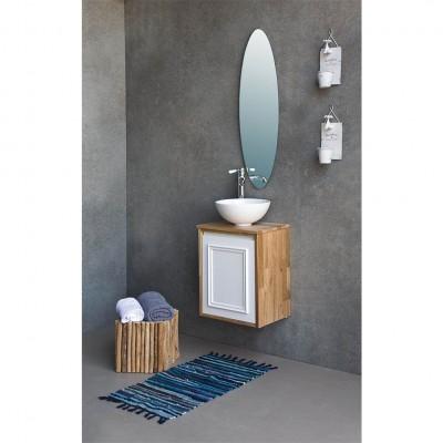 ארון אמבט קטן תלוי עץ ובחזית אפוקסי מיני