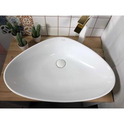 כיור לאמבטיה חרס מונח מטרו - רוחב 67 ס''מ | עומק 44 ס''מ