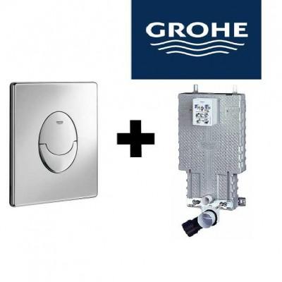 GROHE- מיכל הדחה סמוי + לחצן גרואה
