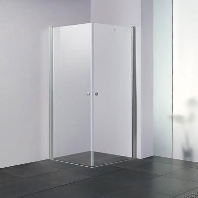מקלחון פינתי מרובע 2 דלתות על ציר דגם דני גובה 190 ס''מ