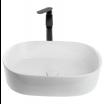 כיור לאמבטיה חרס מונח שפה דקה מעוצב לבן מבריק - רוחב 56.5 ס''מ עומק 36.5 ס''מ