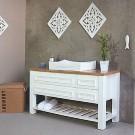 ארון אמבטיה עומד דגם אולימפוס 150 ס''מ כולל כיור ומראה