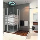 אל גל- מקלחון פינתי מרובע 2 קבועות ו- 2 דלתות דגם מיכאל אנג'לו 2