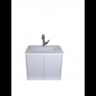 """ארון אמבטיה תלוי זכוכית דגם שנהב 60 ס""""מ עומק 39 כולל כיור ומראה"""