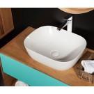 Sebach כיור לאמבטיה חרס מונח זיו- רוחב 50 ס''מ | עומק 40 ס''מ