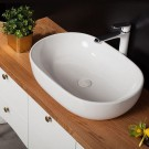 Sebach כיור לאמבטיה חרס מונח נופית - רוחב 60 ס''מ | עומק 40 ס''מ