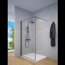 מקלחון חזיתי דופן קבועה למקלחת פרזול שחור