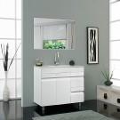 """ארון אמבטיה עומד אפוקסי באלי צבע לבן 80 ס""""מ"""