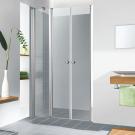 מקלחון חזית קבוע + 2 דלתות פתיחה פנימה והחוצה דגם רומי