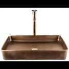 כיור לאמבטיה מלבני חרס מונח ברונזה צהובה - רוחב 60 ס''מ עומק 35 ס''מ