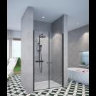 מקלחון חזיתי 2 דלתות שחור מט SELAQUA