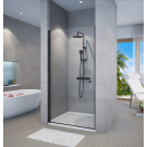 מקלחון חזיתי דלת נפתחת פנימה והחוצה שחור מט SELAQUA