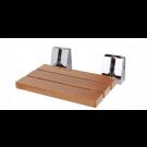 """כסא מתקפל 51 ס""""מ למקלחת מעץ טיק מלא"""