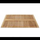 משטח עץ מלבני גדול 120 ס״מ למקלחת עץ טיק מלא