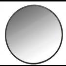 """מראה עגולה קריסטלית מסגרת שחור מט קוטר 80 ס""""מ"""