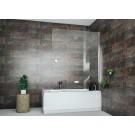 אמבטיון איכותי קבוע ודלת 120 ס''מ 8 מ''מ אקסטרה קליר