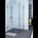 SELAQUA- מקלחון פינתי 2 דלתות על ציר 8 מ''מ