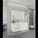 """ארון אמבטיה תלוי כולל כיור דגם אפוקסי מרין מגירות 60 ס""""מ כולל מראה וברז ברבור"""