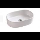 כיור לאמבטיה חרס מונח 7431 לבן מבריק - רוחב 55 ס''מ | עומק 35 ס''מ