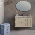 """ארון אמבטיה תלוי דגם חרמון 150 ס""""מ כולל כיור ומראה"""