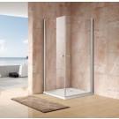 מקלחון פינתי 2 דלתות נפתחות 80X70 מידה מיוחדת